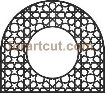 dxf files for cnc - round window