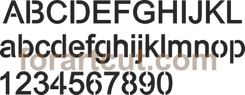 dxf files for cnc - laser font