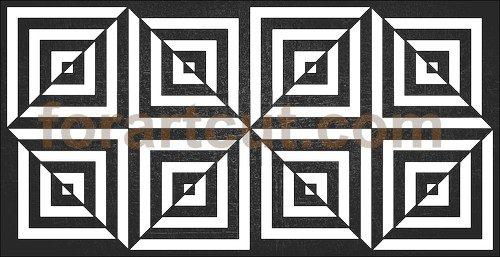 dxf files for cnc - deco panel, illusion
