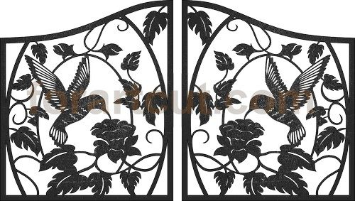dxf files for cnc - art gates