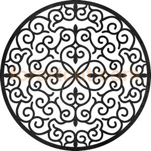 dxf files for cnc - round window mandala