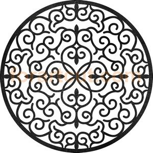 dxf files for cnc - round window mandala