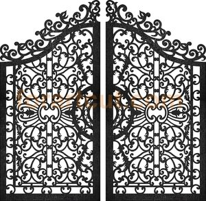 dxf files for cnc - art gate